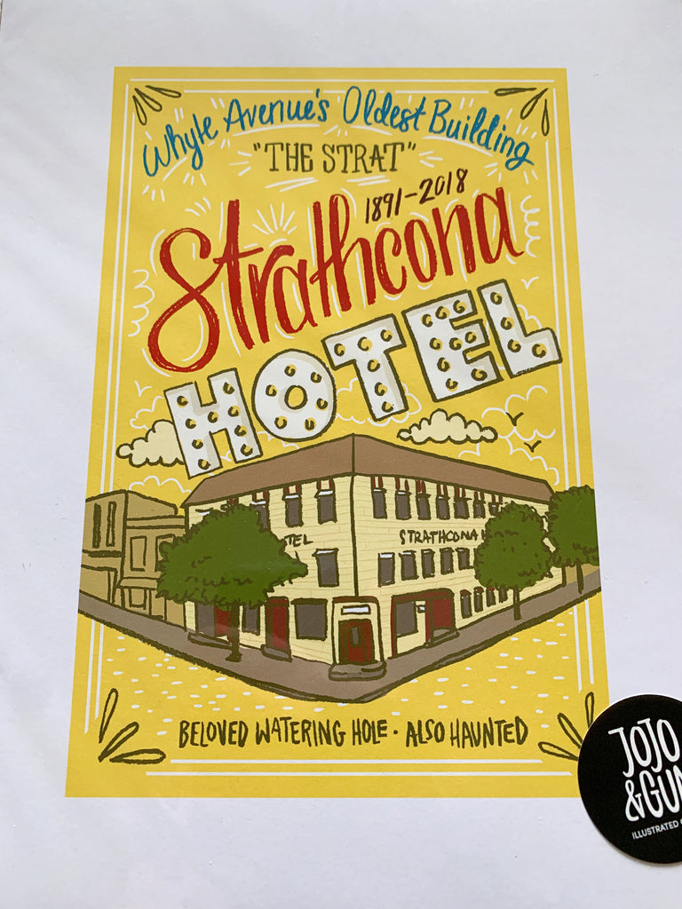 Strathcona Hotel City Print - Jojo and gunn - available from Majesty and Friends