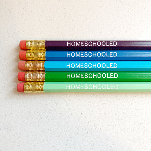 Homeschooled Pencils - Majesty and Friends - available from Majesty and Friends