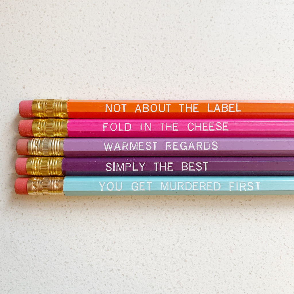Schitt's Creek Embossed Pencils! - Majesty Industries - available from Majesty and Friends