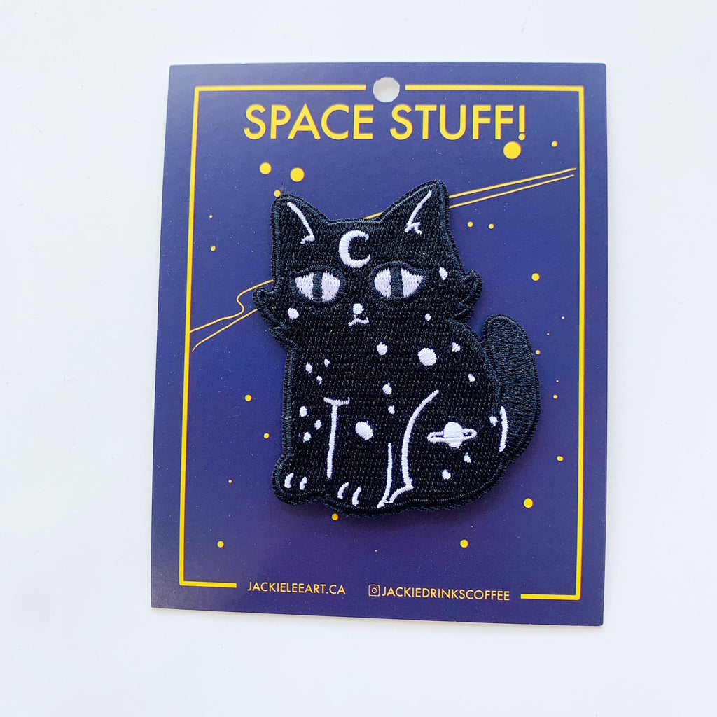 Outer Space Cat Patch - Jackie lee - available from Majesty and Friends