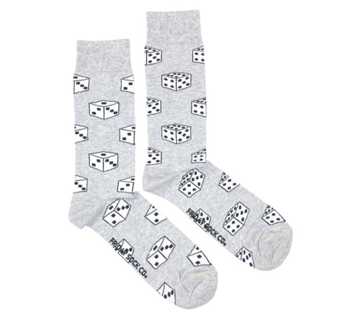 Friday Men's Socks Roll The Dice - Friday socks - available from Majesty and Friends