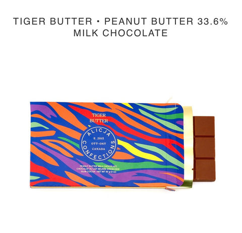 Tiger Butter- Peanut Butter Chocolate Bar - Alicja confections - available from Majesty and Friends
