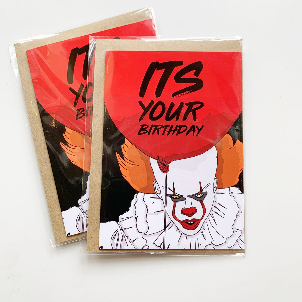 Card: Scary Clown Birthday - Majesty and Friends - available from Majesty and Friends