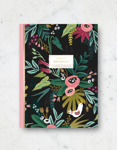 Floral Lined notebook