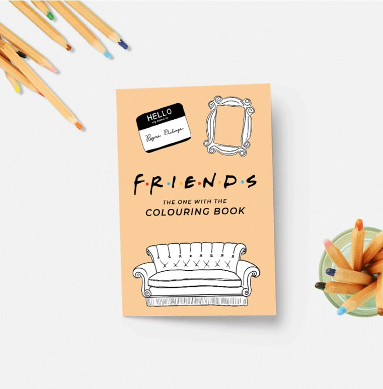 Friends Colouring Book - Party Mountain - available from Majesty and Friends