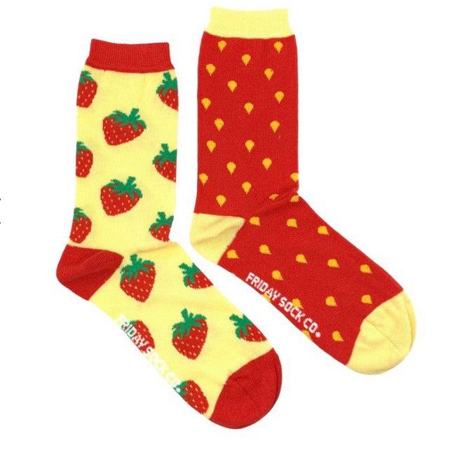 Friday Socks Strawberries - Friday socks - available from Majesty and Friends
