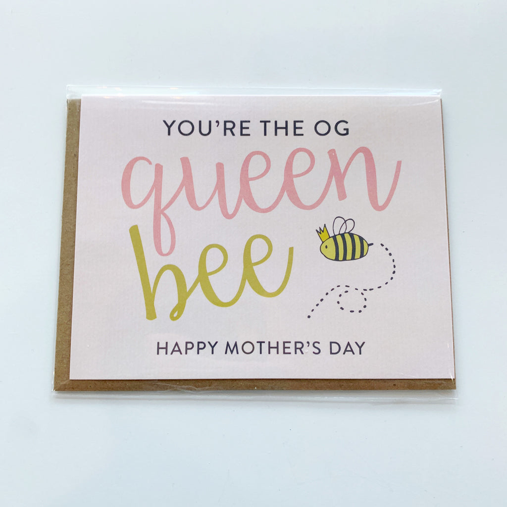 Card: Mothers Day Queen Bee - Majesty and Friends - available from Majesty and Friends