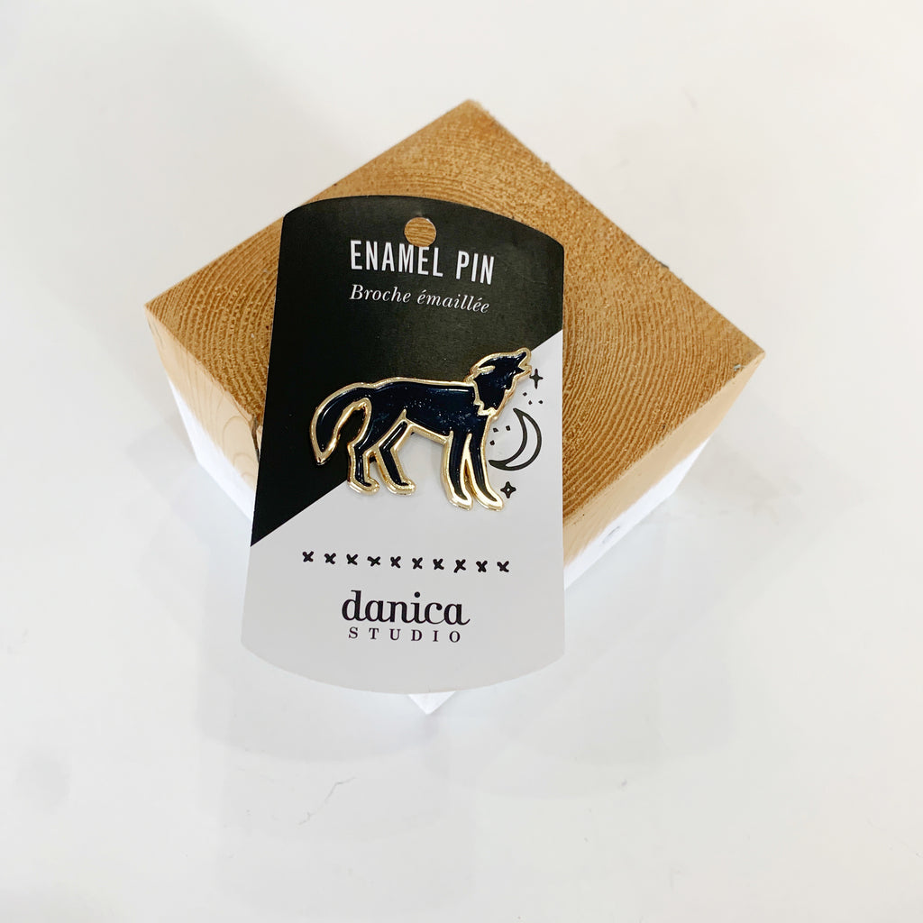 Danica Howling Wolf Pin - Danica - available from Majesty and Friends