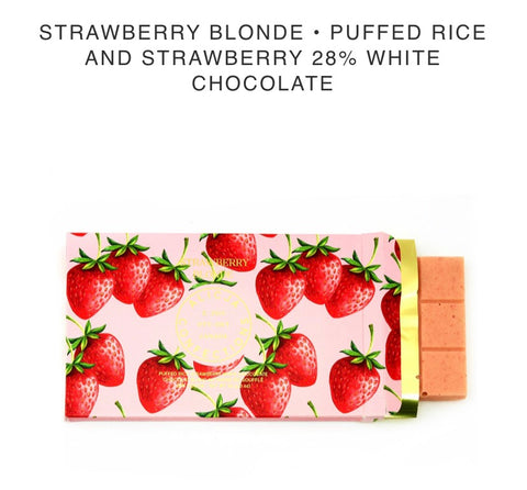 Strawberry Blond White Chocolate Bar - Alicja confections - available from Majesty and Friends