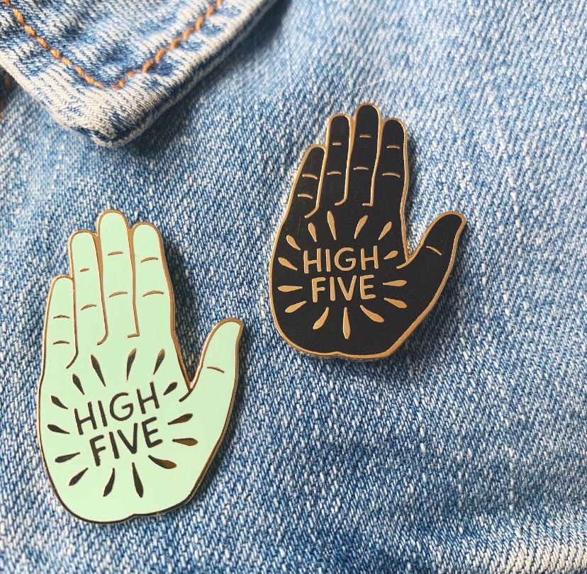Charity High Five Pin!