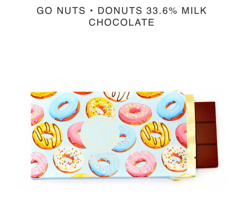 Go Nuts for Donuts Milk Chocolate Bar - Alicja confections - available from Majesty and Friends