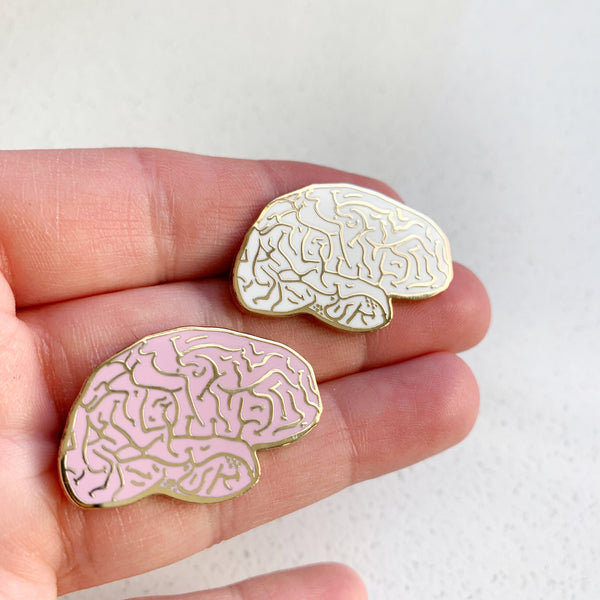 Brain Enamel Pin - Majesty and Friends - available from Majesty and Friends