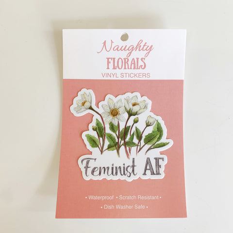 Naughty Florals Vinyl Sticker - Naughty florals - available from Majesty and Friends