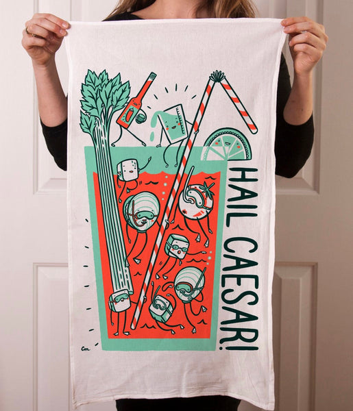 Claire Manning Illustrated Tea Towel