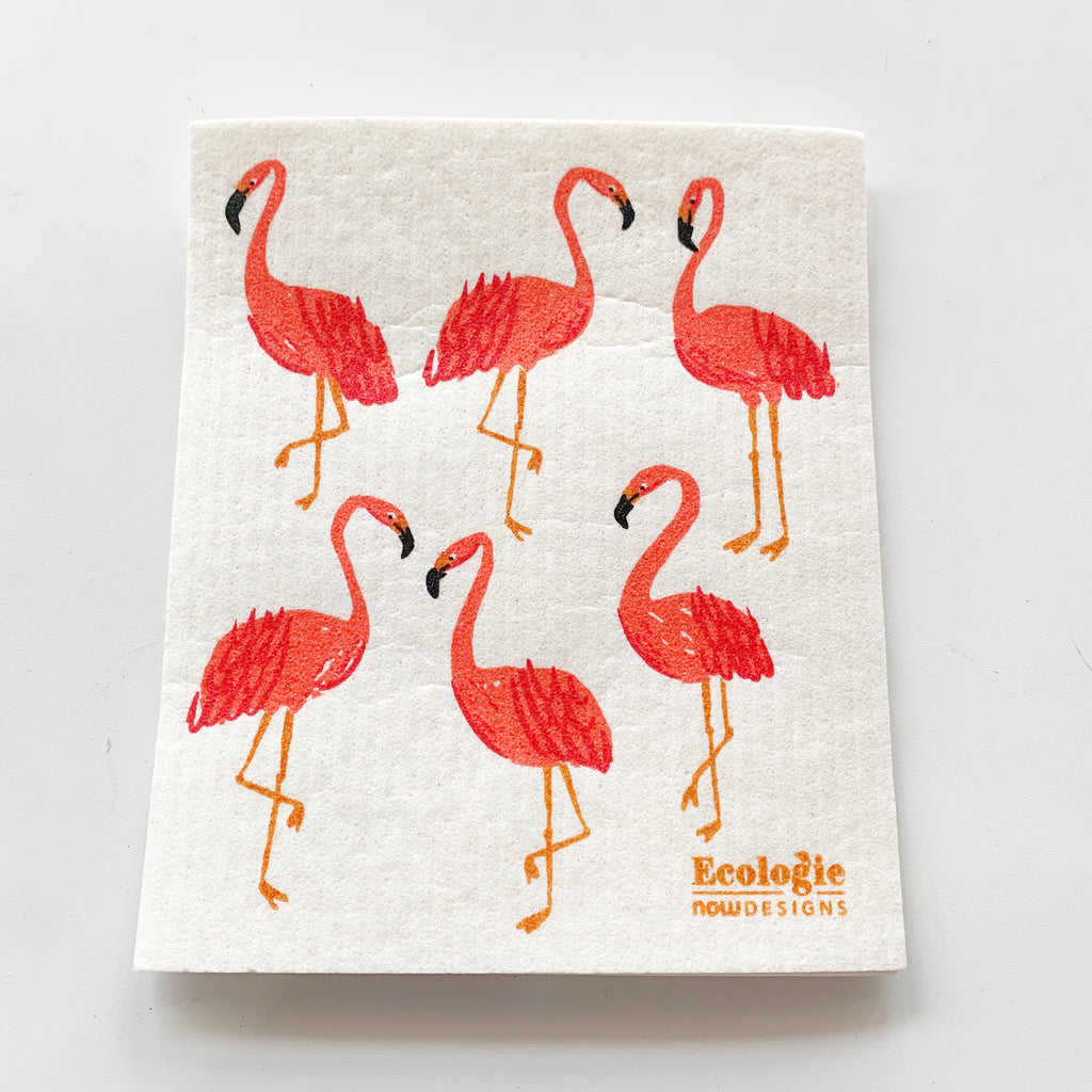Flamingos Swedish Cloth - Majesty and Friends - available from Majesty and Friends