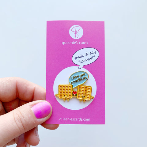 Waffle Pin by Queenies Cards!