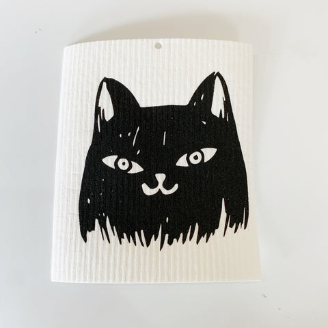 Bad Cat Swedish Dishcloth - Majesty and Friends - available from Majesty and Friends