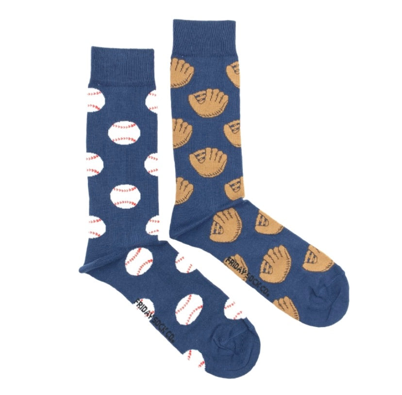 Friday Men's Socks Baseball - Friday socks - available from Majesty and Friends