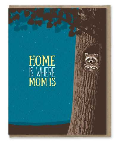 Card: Mothers Day, home is where mom is!