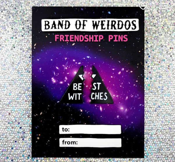 Best Witches Friendship Pin - Band of weirdos - available from Majesty and Friends