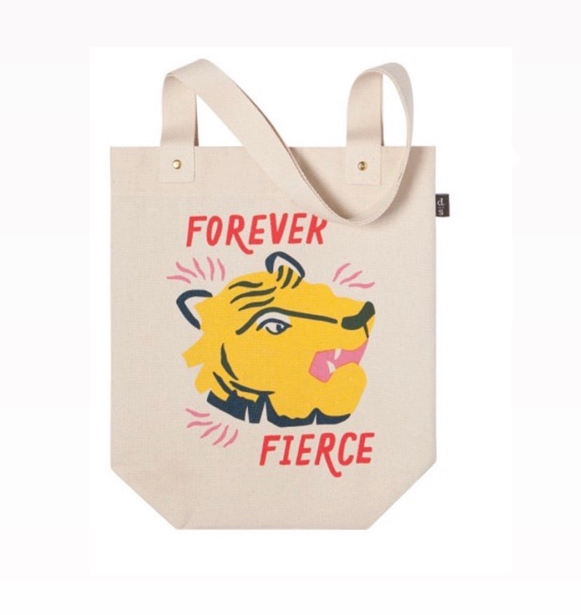 Tote bags! Tiger! Fierce!