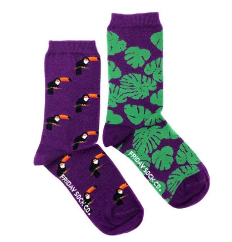 Friday Socks Toucan and Monstera - Friday socks - available from Majesty and Friends