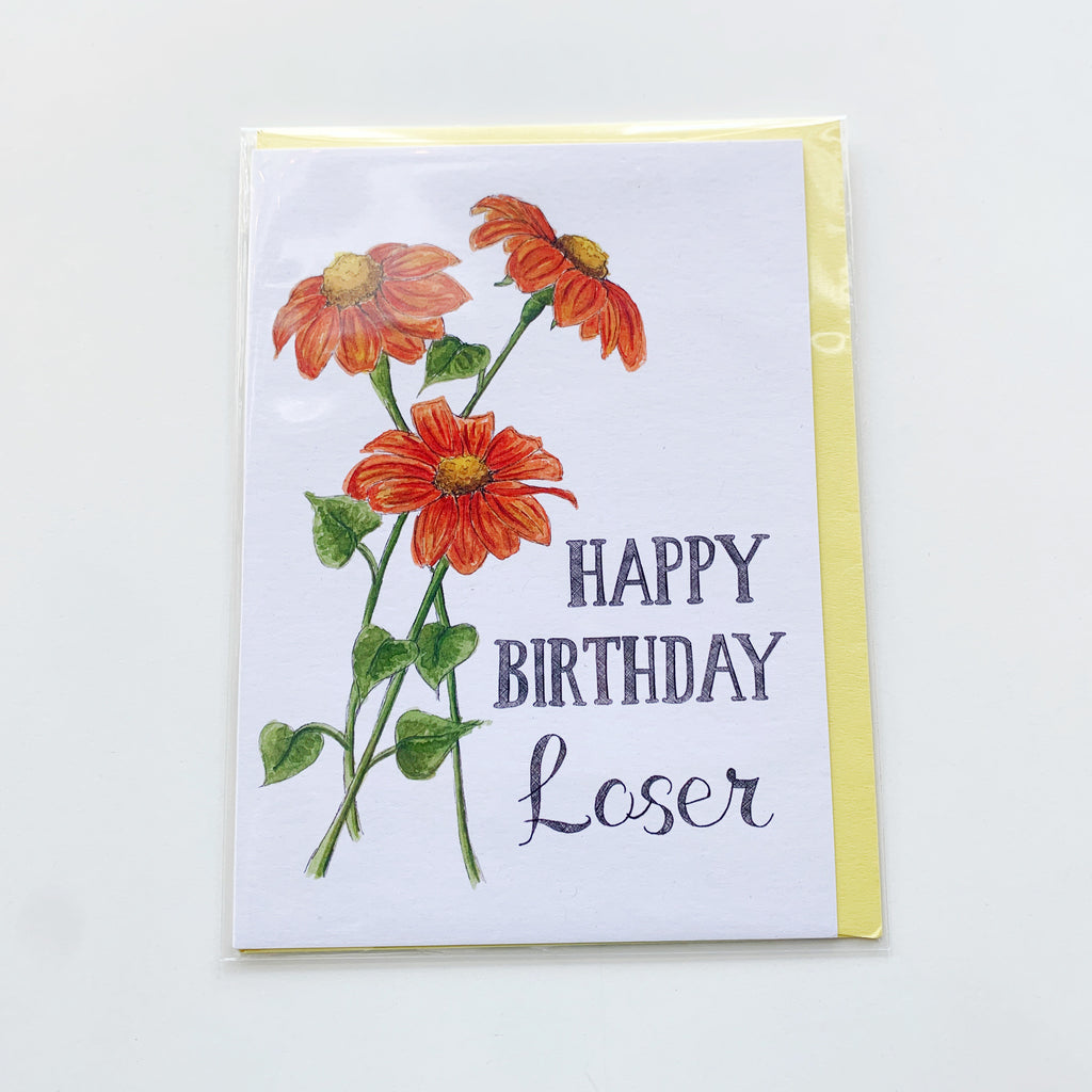 Happy birthday Loser Card - Majesty and Friends - available from Majesty and Friends
