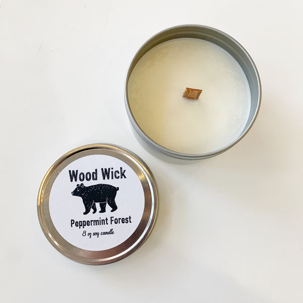 Wood Wick Candle Peppermint Forest - Majesty and Friends - available from Majesty and Friends