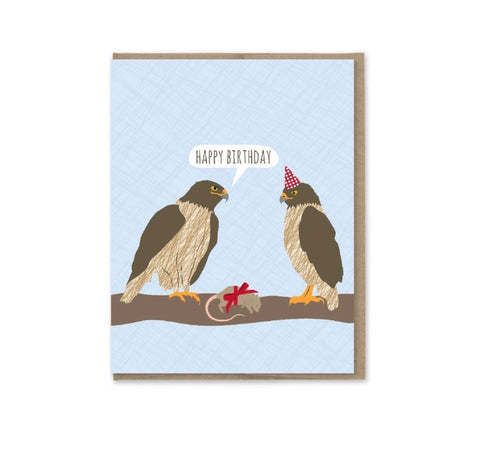 Card: Birthday Hawks
