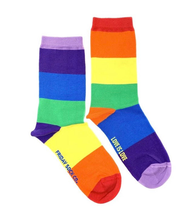 Friday Socks Rainbow - Friday socks - available from Majesty and Friends