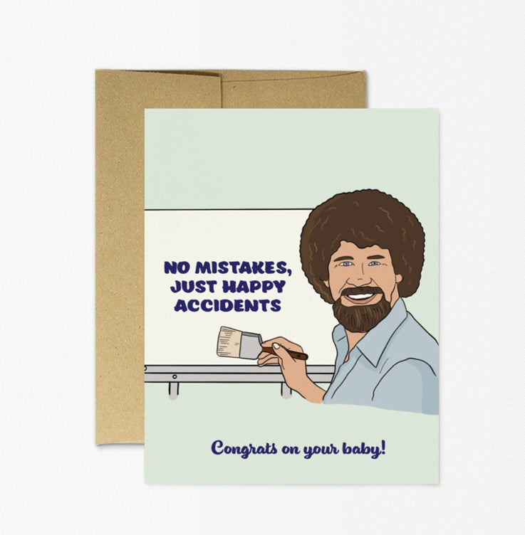 Card: Bob Ross Baby - Majesty and Friends - available from Majesty and Friends