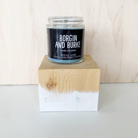 Borgin and Burke Candle 4 Oz pure soy - Majesty and Friends - available from Majesty and Friends