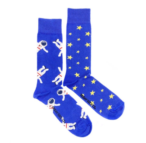 Friday Men's Socks Astronaut and Space - Friday socks - available from Majesty and Friends