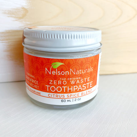 Nelson naturals Toothpaste Powder Citrus Spice - Majesty and Friends - available from Majesty and Friends
