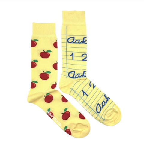 Friday Men's Socks Teachers Pet - Friday socks - available from Majesty and Friends