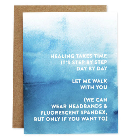 Card: Healing takes Time.