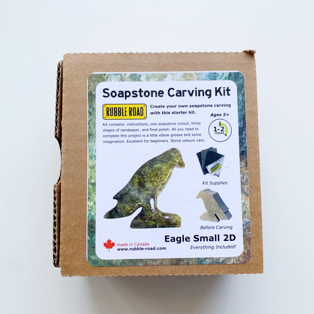 Soapstone Carving Kit Eagle Small - Rubble Road - available from Majesty and Friends