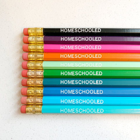 Homeschooled Pencils set of 10 - Majesty and Friends - available from Majesty and Friends