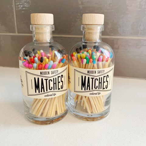 Apothecary Matches in Rainbow - Majesty and Friends - available from Majesty and Friends
