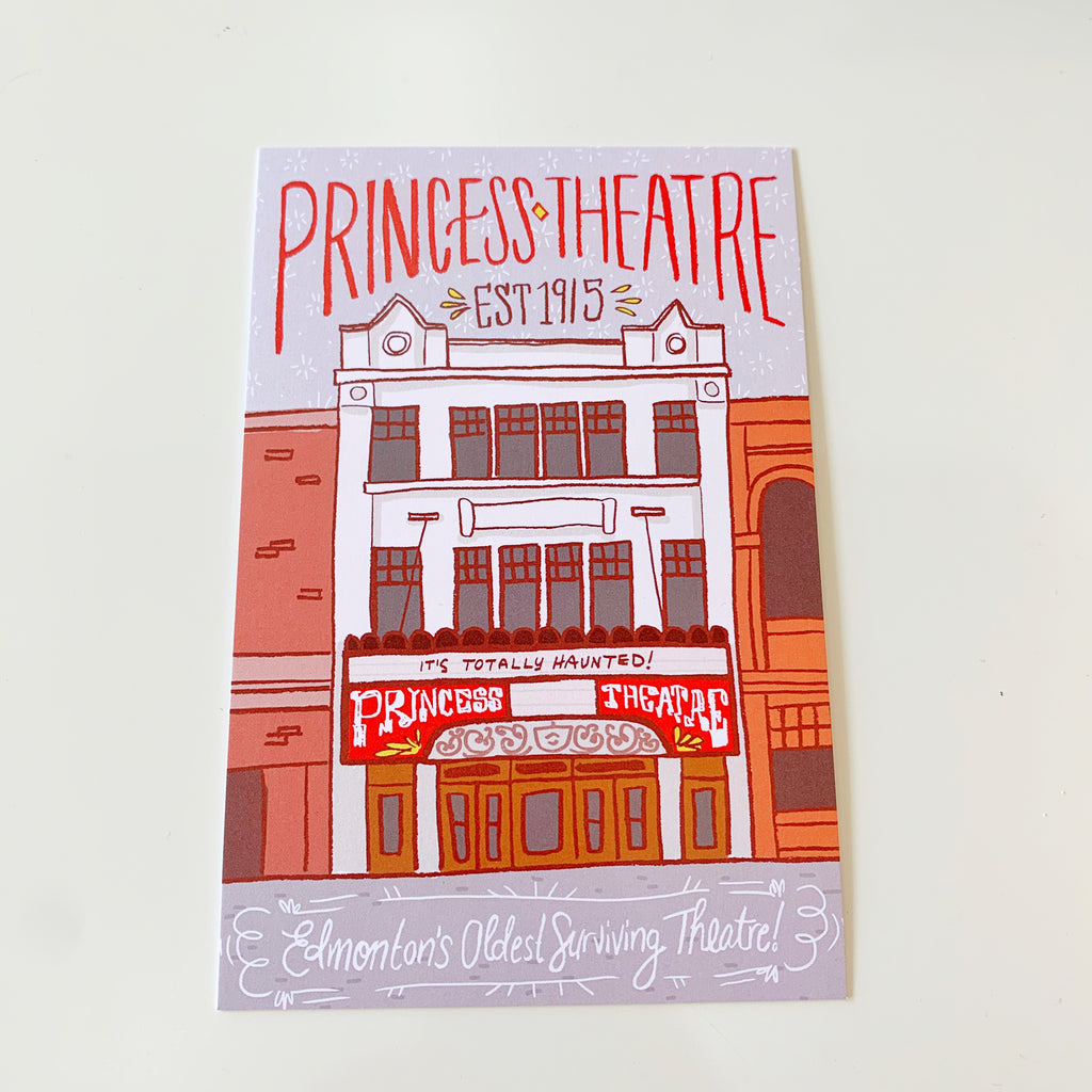 Edmonton Princess Theatre Postcard by Jojo & Gun - Jo jo and gun - available from Majesty and Friends