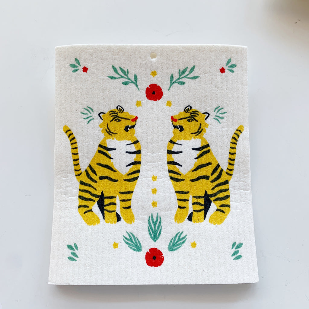 Swedish Dishcloth: Tigers Forever - Majesty and Friends - available from Majesty and Friends