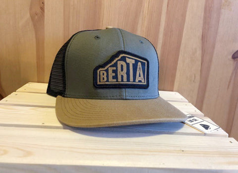 Copy of Berta hat in Green - Brouhaha - available from Majesty and Friends