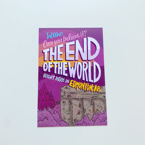 End of the World Postcard by Jojo & Gun