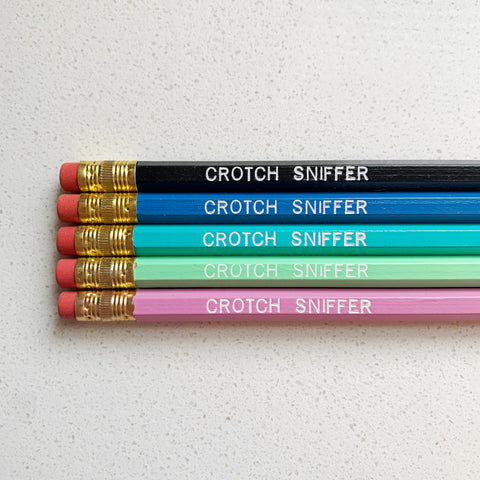 Crotch Sniffer Pencils - Majesty and Friends - available from Majesty and Friends