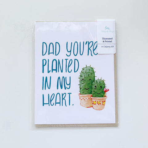 Card: Fathers Day, Plant Dad - Majesty and Friends - available from Majesty and Friends