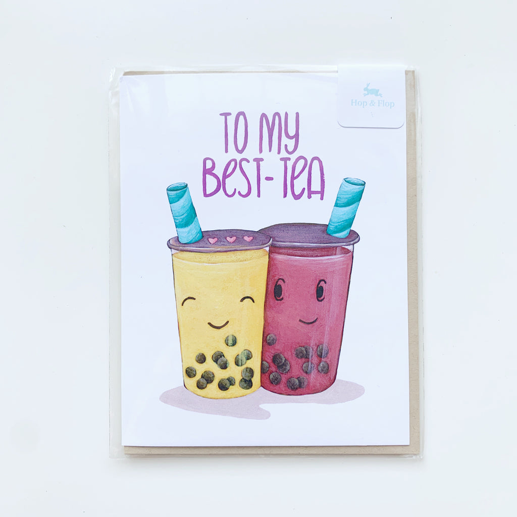Card: Best-tea! Bestie! - Majesty and Friends - available from Majesty and Friends