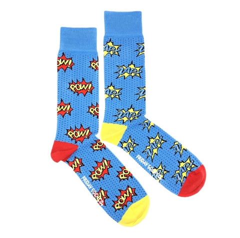 Friday Men's Socks Pow! Zap! - Friday socks - available from Majesty and Friends