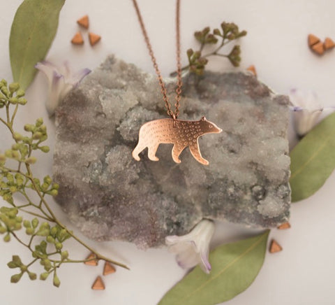 Smithstine Black Bear Copper Pendant - Smithstine - available from Majesty and Friends