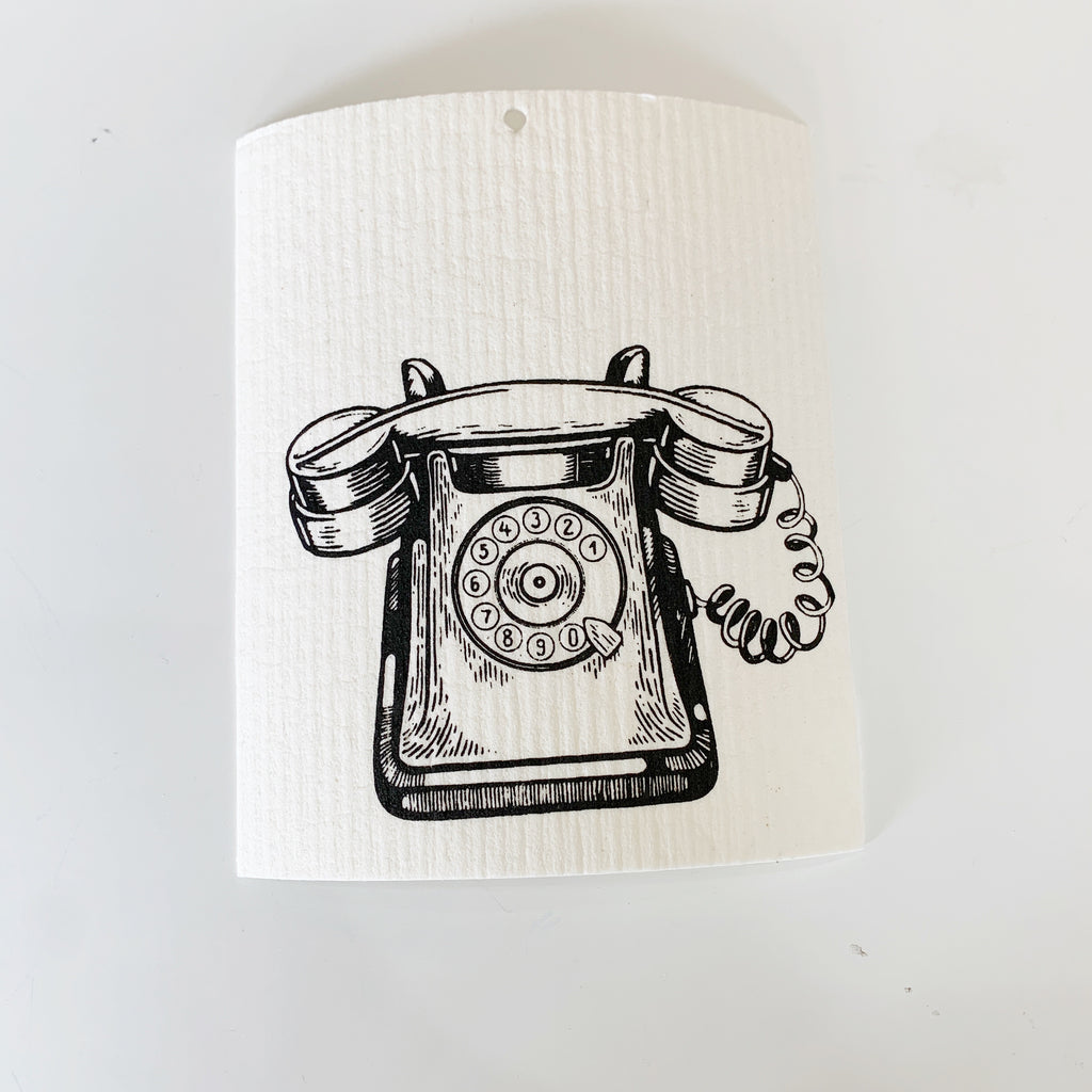 Rotary Phone Swedish Dishcloth - Majesty and Friends - available from Majesty and Friends