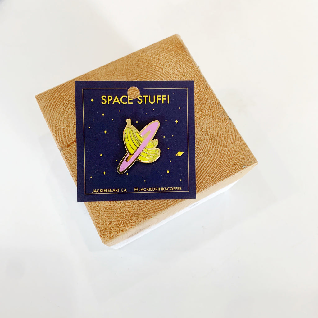 Space Banana Pin - Jackie lee - available from Majesty and Friends